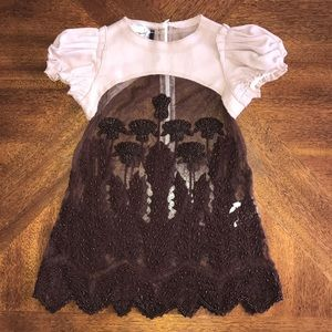 I Pinco Pallino formal beaded over top tulle dress
